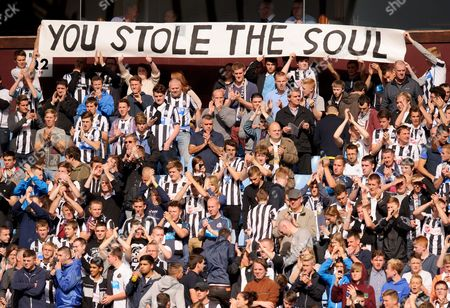 Newcastle United Fans Hold Up an Anti Joe Kinnear Banner Gb Birmingham