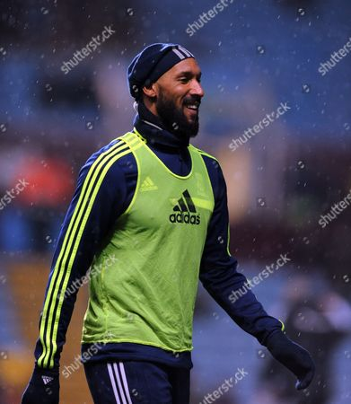Nicolas Anelka of West Bromwich Albion During Warm-up Gb Birmingham