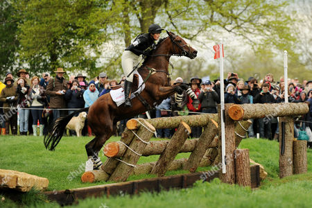 Elizabeth Power (irl) Riding Kilpatrick River at Obstacle 19 Asx Crossover During the Cross Country the Pair Finished in 36th Place After the Cross Country Test United Kingdom Badminton, Gloucestershire