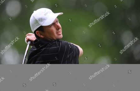 Peter Lawrie of Ireland Drives at the Third Tee United Kingdom
