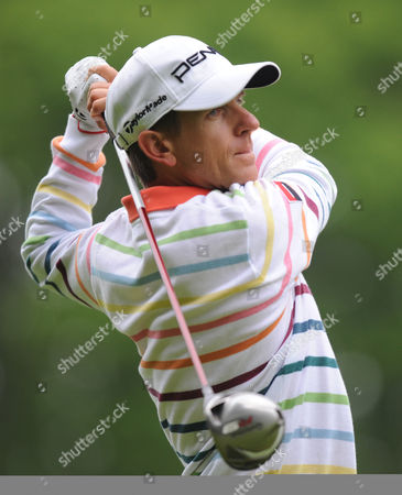Stock Picture of Christian Cevaer of France Tees Off at the 3rd United Kingdom