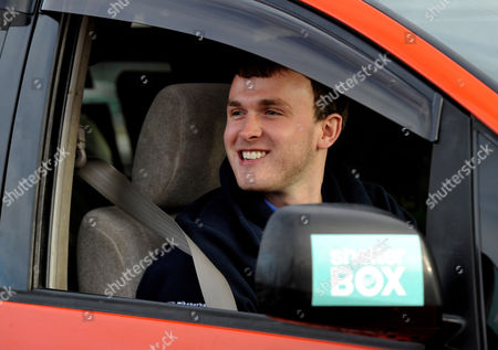 20 Year-old Mike Perham of Potters Bar Arrives Back at the Raf Museum in North London After Successfully Circumnavigating the Globe in A Spaceship Camper Van Raising Awareness For Shelter Box - Disaster Relief Charity
