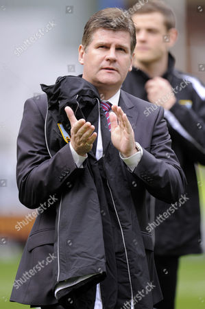Manager Brian Laws of Burnley Looks Dejected United Kingdom Burnley