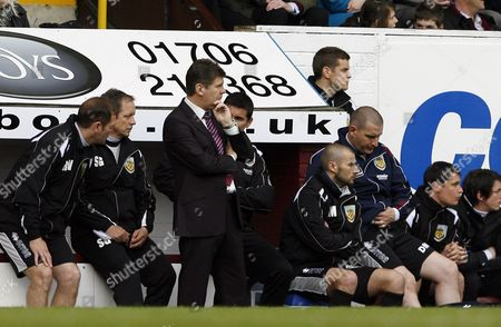 Burnley Manager Brian Laws Looks Dejected United Kingdom Burnley
