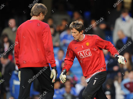 Edwin Van Der Saar and Tomask Kuszczak of Manchester United Appear to Ignore Each Other United Kingdom London