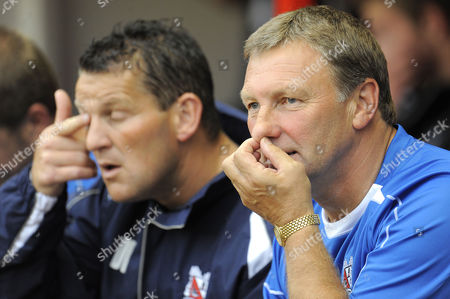 Manager Colin Todd of Darlington with Player Coach Dean Windass