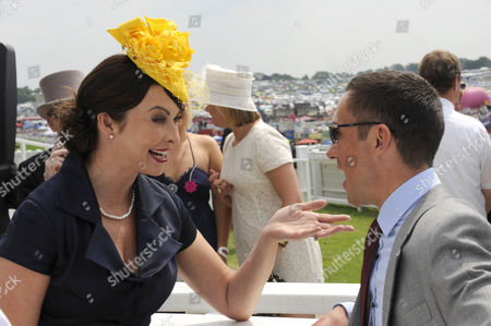 Suzy Perry Tv Presenter Chats to Frankie Dettori United Kingdom London
