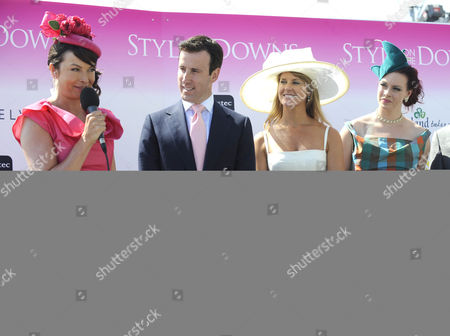 Stock Picture of The Style On the Downs Competition is Judged by (l-r) Suzy Perry Anton Du Bec Ering Boag and Sharon Marshall United Kingdom London