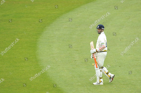Dale Benkenstein of Durham Ccc Looks Dejected After Being Given out Caught Behind Off the Bowling of Simon Cook of Kent Ccc United Kingdom Durham