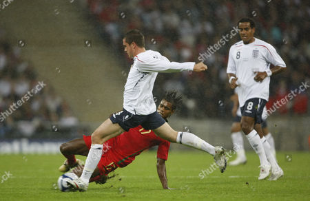 Stephen Taylor of England U21 and Ricardo Vaz Te of Portugal U21 United Kingdom London