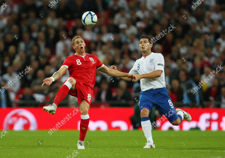 Jack Collison of Wales in Action with Frank Lampard of England United Kingdom London