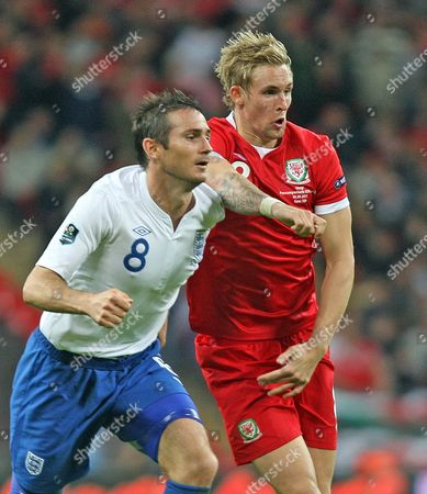 Frank Lampard of England and Jack Collison of Wales United Kingdom London