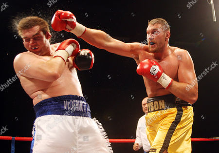 Tyson Fury Lands A Vicious Punch On John Mcdermott On His Way to Winning the English Heavyweight Title England