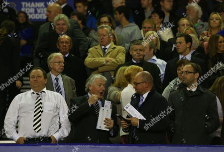 Newcastle United Director of Football Joe Kinnear and Owner Mike Ashley Look On From the Stand Gb Liverpool