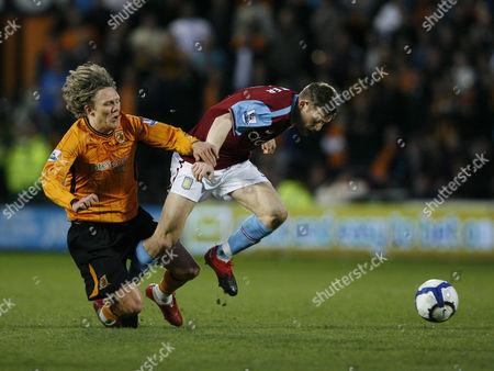 Jimmy Bullard of Hull City and James Milner of Aston Villa United Kingdom Hull