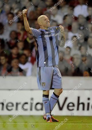 Lee Hughes of Notts County Celebrates His Goal 2-3 United Kingdom Nottingham