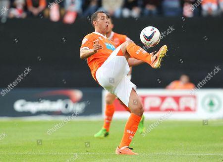 Michael Chopra of Blackpool United Kingdom Preston