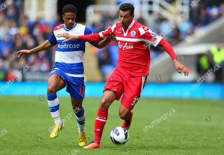 Gareth Mccleary of Reading and Jay Bothroyd of Queens Park Rangers in Action United Kingdom Reading
