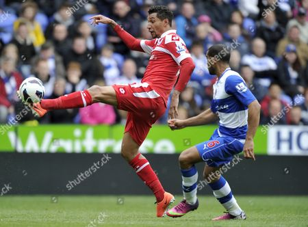 Jay Bothroyd of Qpr Attempts A Long Range Shot Off the Side of His Foot United Kingdom Reading