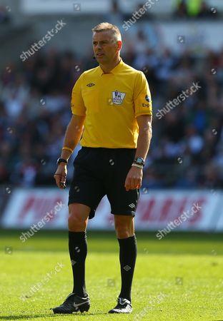 Referee Mark Halsey United Kingdom Swansea