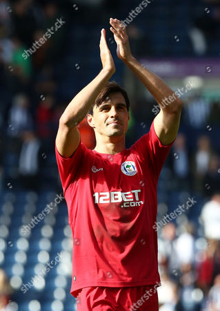 Stock Image of Paul Scharner of Wigan Athletic Thanks the Fans at the End of the Game United Kingdom Birmingham