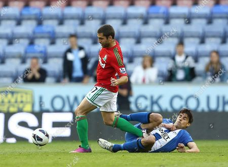 Editorial image of Wigan Athletic V Swansea City - 07 May 2013