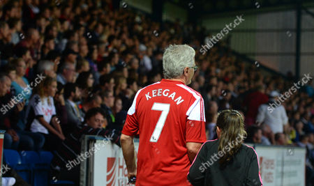 A Fulham Fan Wears A Kevin Keegan Shirt During the Capital One Cup First Round Match Between Wycombe Wanderers and Fulham Played at Adams Park On August 11th 2015 United Kingdom High Wycombe