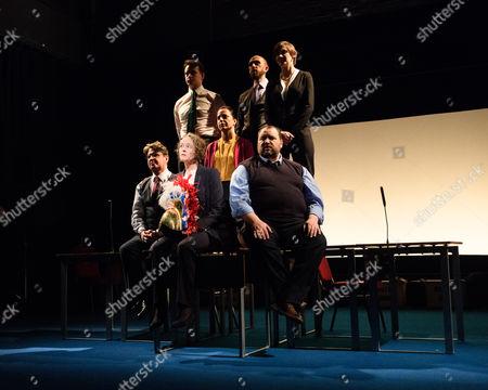 Stuart McQuarrie, Penny Layden, Seema Bowri, Christian Patterson; Back: Cavan Clarke, Laura Elphinstone.