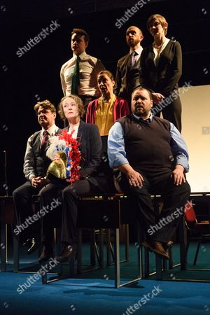 Front: Stuart McQuarrie, Penny Layden, Seema Bowri, Christian Patterson; Back: Cavan Clarke, Laura Elphinstone.