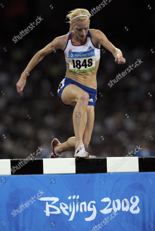 Barbara Parker of Great Britain Competes in the Athletics Women's 3000m Steeplechase During Day Seven of the 2008 Beijing Olympics in Beijing August 15 2008 China Beijing