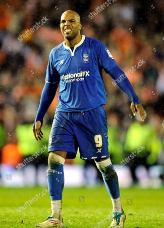 A Dejected Marlon King of Birmingham City at Full-time United Kingdom Birmingham