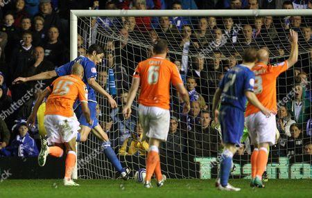 Nikola Zigic of Birmingham City Scores to Make It 1-2 United Kingdom Birmingham
