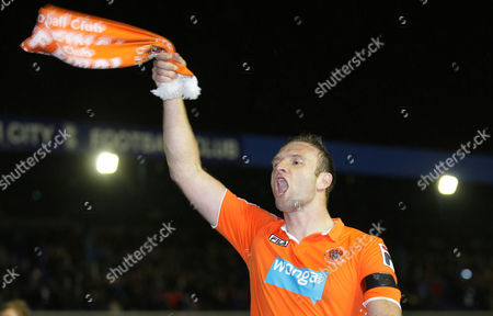 Stock Picture of Keith Southern of Blackpool Celebrates After Reaching the Play Off Final United Kingdom Birmingham