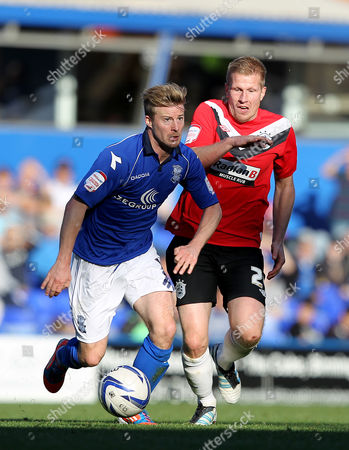 Stock Picture of Wade Elliot of Birmingham City and Keith Southern of Huddersfield Town in Action United Kingdom Birmingham
