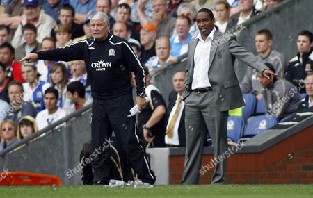 Blackburn Rovers Manager Paul Ince Next to Assistant Archie Knox United Kingdom Blackburn