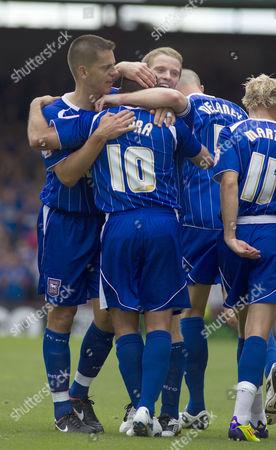 Ipswich Town Striker Michael Chopra Celebrates Scoring His Goal to Make the Score 0-1 United Kingdom Bristol