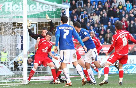 Cardiff Defender Dekel Keinan Scores A Goal to Make the Score 2-1 United Kingdom Cardiff