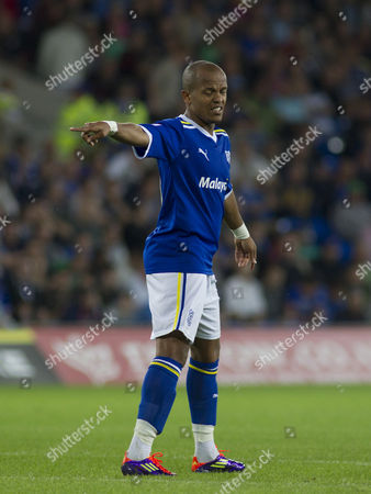 Cardiff City Striker Robert Earnshaw Shows A Look of Dejectiion As He Points United Kingdom Cardiff