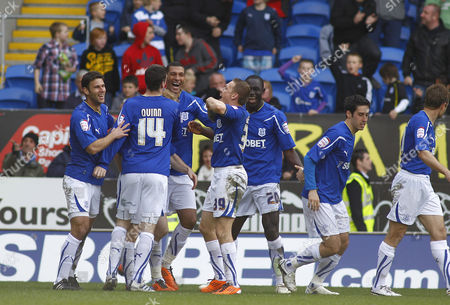 Dekel Keinan of Cardiff City Celebrates Scoring His Goal to Make the Score 2-0 United Kingdom Cardiff
