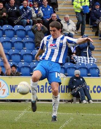 Stock Photo of Andy Bond of Colchester United Scores to Make the Score 5-1 United Kingdom Colchester