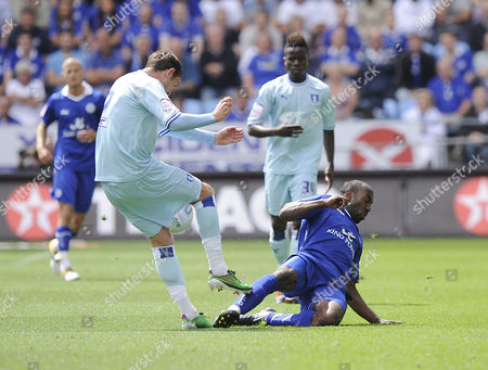 Leicester City's Darius Vassell is Sent Off For His Challenge On Coventry City's Richard Keogh United Kingdom Coventry