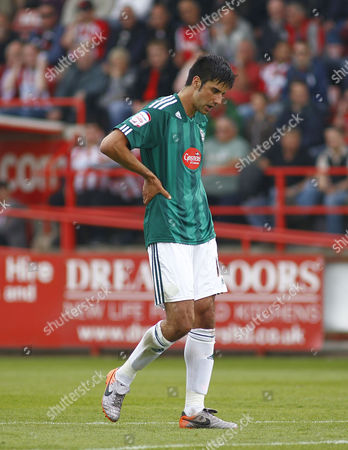 Rory Fallon of Plymouth Argyle Shows A Look of Dejection As He Leaves the Field at Full Time United Kingdom Exeter