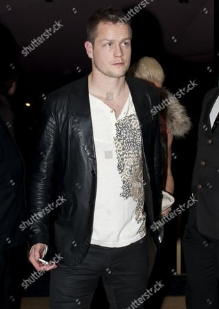 Heidar Helguson of Qpr Leaves the Curzon Cinema in Mayfair After the Premiere of the Four Year Plan United Kingdom London