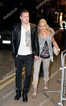 Stock Photo of Heidar Helguson of Qpr and His Wife United Kingdom London