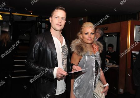 Stock Picture of Qpr Striker Heidar Helguson Arrives For the Premiere with His Wife United Kingdom London