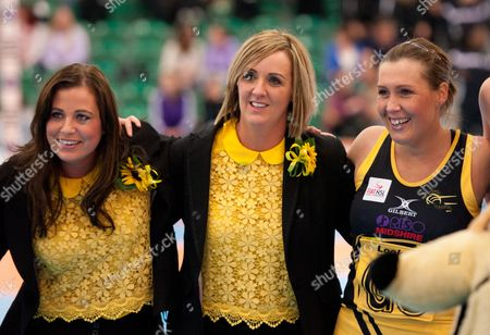 Northern Thunder Director of Netball Tracey Neville with Assistant Coach Suzy Chapman United Kingdom Dagenham