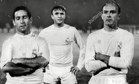 (l-r) Real Madrid's Francisco Gento Lopez Jose Santamaria and Alfredo Di Stefano Cannot Hide Their Disappointment Following A 3-1 Defeat Against Inter Milan in the European Cup Final File Photo Dated 27/5/1964 Uk Sales Only