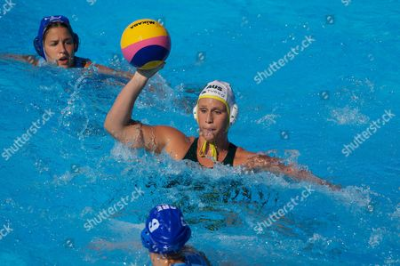 Australia's Holly Lincoln-smith in Action During Ausralia's 4-3 Loss to Greece in the Women's Water Polo Quarter Final Italy