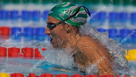 Stock Photo of Mirna Jukic Austria in Action During the Women's 200m Breaststroke Heats Italy