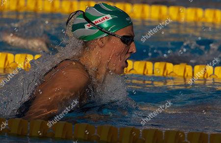 Mirna Jukic Austria in Action in the Women's 200m Breaststroke Semi Finals Italy